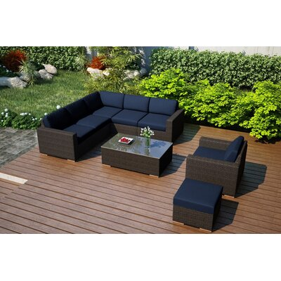 Arden 8 Piece Lounge Seating Group with Cushion Fabric: Spectrum Indigo