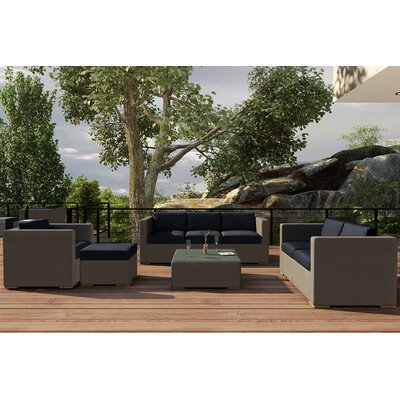 Element 5 Piece Deep Seating Group with Cushion Fabric: Spectrum Indigo