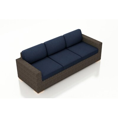 Arden Sofa with Cushions Fabric: Spectrum Indigo