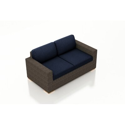 Arden Loveseat with Cushions Fabric: Spectrum Indigo