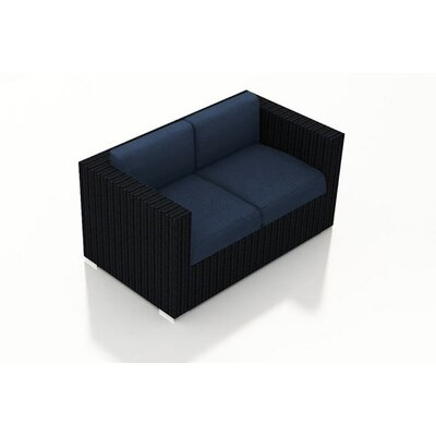 Eichhorn Contemporary Loveseat with Cushions Fabric: Spectrum Indigo