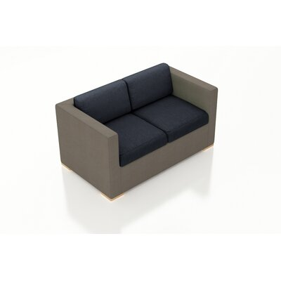 Element Loveseat with Cushions Fabric: Spectrum Indigo