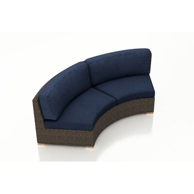 Arden Loveseat with Cushions Fabric: Spectrum Indigo
