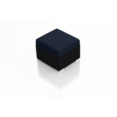 Eichhorn Ottoman with Cushion Fabric: Spectrum Indigo