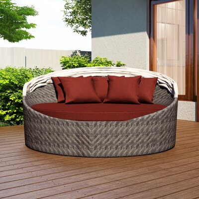 Wink Daybed with Cushion Fabric: Canvas Henna
