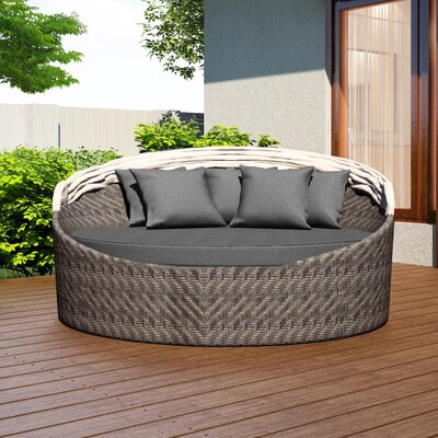 Wink Daybed with Cushion Fabric: Canvas Charcoal