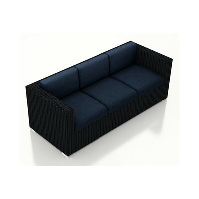 Urbana Sofa with Cushions Fabric: Spectrum Indigo