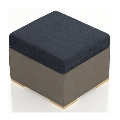 Element Ottoman with Cushion Fabric: Spectrum Indigo