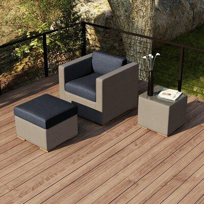 Element 3 Piece Deep Seating Group with Cushion Fabric: Spectrum Indigo