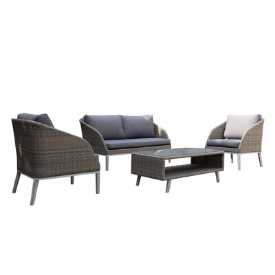 Lawlor Arm Sectional Piece with Cushions