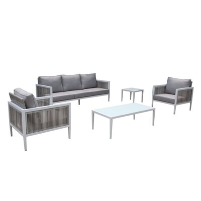 Pacifica Arm Sectional Piece with Cushions