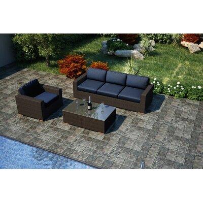 Arden 3 Piece Sofa Set with Cushions Fabric: Spectrum Indigo
