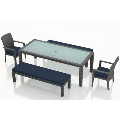 Gerron Contemporary 5 Piece Dining Set with Cushions Color: Spectrum Indigo