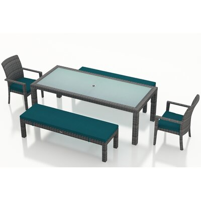 Gerron Contemporary 5 Piece Dining Set with Cushions Color: Spectrum Peacock