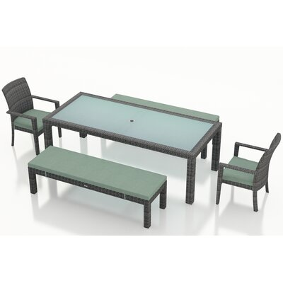 Gerron Contemporary 5 Piece Dining Set with Cushions Color: Canvas Spa