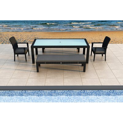 Eichhorn 5 Piece Dining Set with Cushions Color: Canvas Charcoal