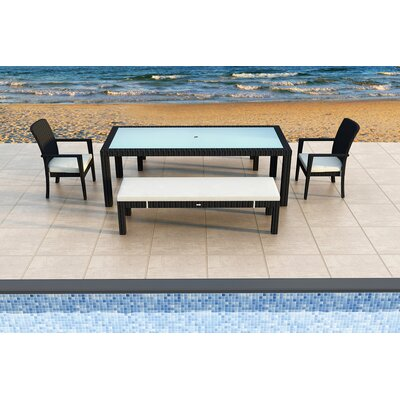 Eichhorn 5 Piece Dining Set with Cushions Color: Canvas Natural