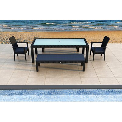 Eichhorn 5 Piece Dining Set with Cushions Color: Spectrum Indigo