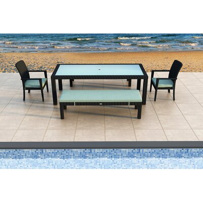 Eichhorn 5 Piece Dining Set with Cushions Color: Canvas Spa