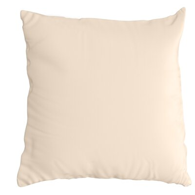 Throw Pillow Color: Canvas Flax