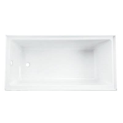 Equinox 60 x 32 Drop in Soaking Bathtub Drain Location: Left