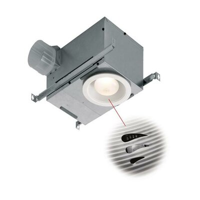 70 CFM Energy Star Bathroom Fan with Light and Humidity Sensor