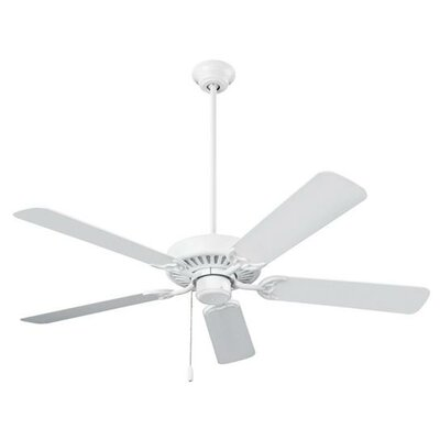 52 Standard Series 5-Blade Ceiling Fan Finish: White
