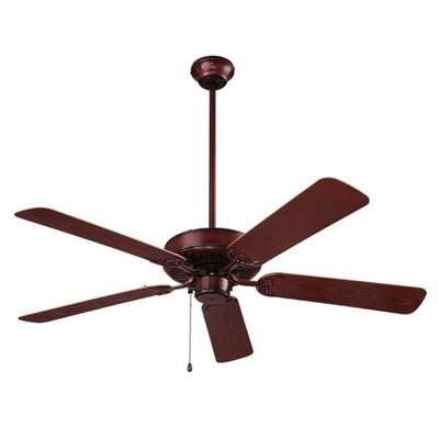 5 Blade Outdoor Ceiling Fan Finish: Weathered Bronze