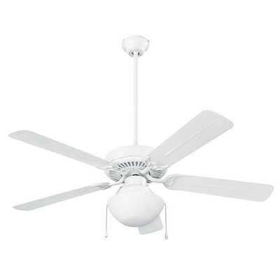 5 Blade Outdoor Ceiling Fan Finish: White