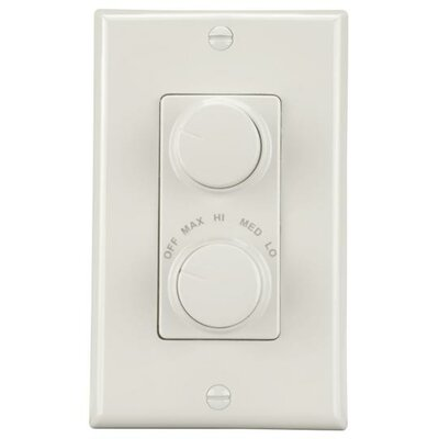 Fan and Light Wall Control Finish: White