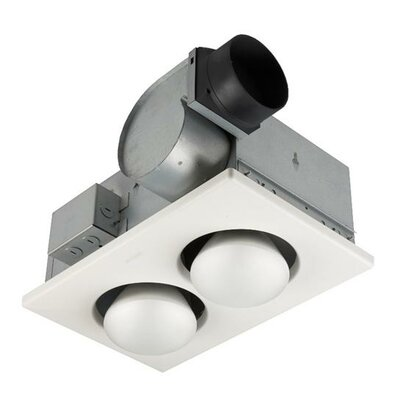 Ventilation 70 CFM Bathroom Fan with Heater