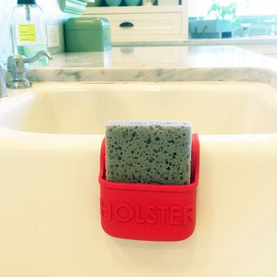 Lil Holster Mini Dish Sponge Holder Color: Red