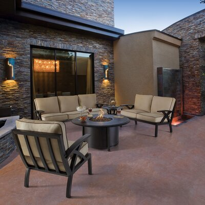 Lotus Fire Pit Seating Group with Cushion
