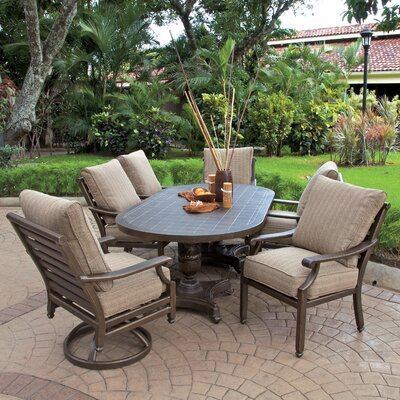 Grand Regent 7 Piece Dining Set with Cushions