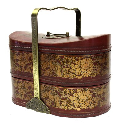 Leather Basket With Handle