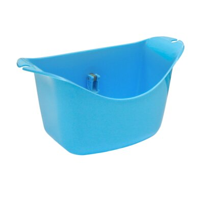 Push N Stay Oval Suction Sink Organizer Color: Blue