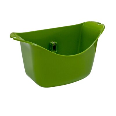 Push N Stay Oval Suction Sink Organizer Color: Green