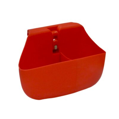 Push N Stay Divided Suction Sink Organizer Color: Red