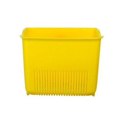 Push N Stay Square Suction Sink Organizer Color: Yellow