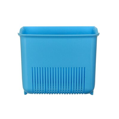 Push N Stay Square Suction Sink Organizer Color: Blue