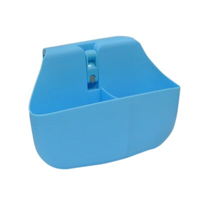 Push N Stay Divided Suction Sink Organizer Color: Blue