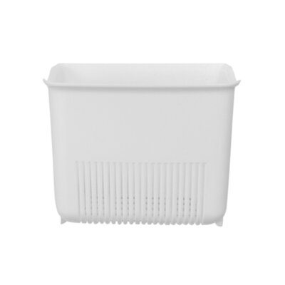Push N Stay Square Suction Sink Organizer Color: White