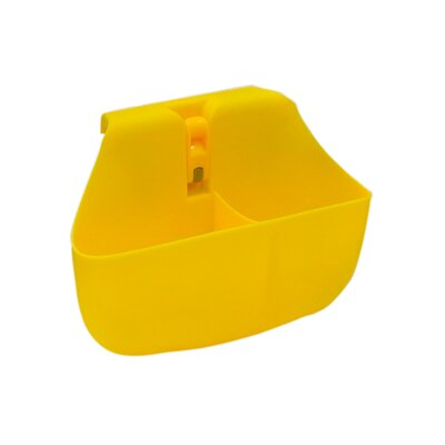 Push N Stay Divided Suction Sink Organizer Color: Yellow
