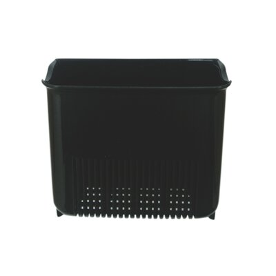 Push N Stay Square Suction Sink Organizer Color: Black