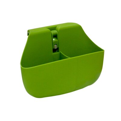 Push N Stay Divided Suction Sink Organizer Color: Green