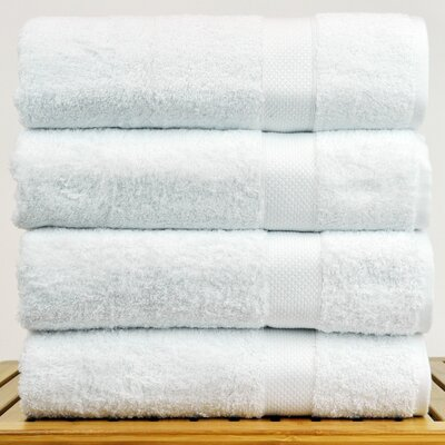 Blossom Bath Towel Color: White
