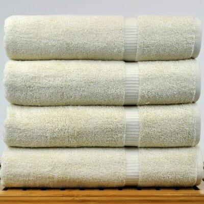 100% Turkish Cotton Bath Towel Color: Beige