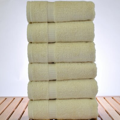 Luxury Hotel and Spa Turkish Cotton Dobby Border Hand Towel Color: Beige