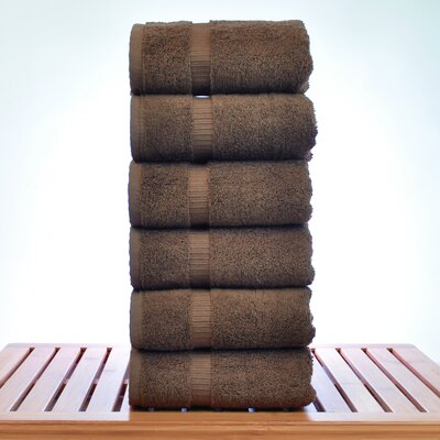 Luxury Hotel and Spa Towel 100% Genuine Turkish Cotton Hand Towel Color: Cocoa