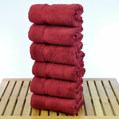 Orchid Hand Towel Set Color: Cranberry